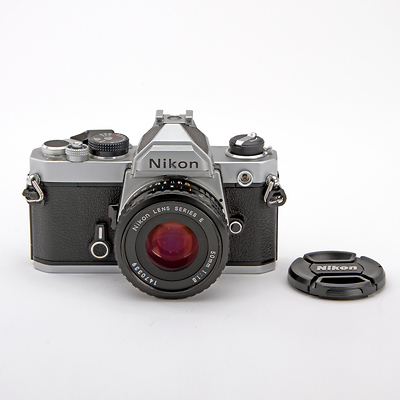 FM 35mm Film Camera with 50mm f/1.8 E Lens - Used Image 0
