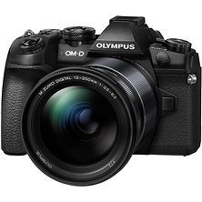 OM-D E-M1 Mark II Mirrorless Micro Four Thirds Digital Camera with 12-200mm Lens (Black) Image 0