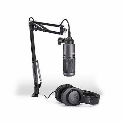 AT2020USB+ Microphone Pack with ATH-M20x, Boom & USB Cable Image 0