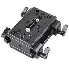 Tripod Mounting Kit with 2 x Plates and 2 x 15mm Rod Clamps Image 0