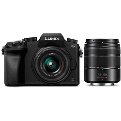 Panasonic Lumix DMC-G7 Mirrorless Micro Four Thirds Digital Camera with 14-42mm and 45-150mm Lenses Image