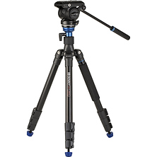 A2883F Reverse-Folding Aluminum Travel Tripod with S4Pro Fluid Video Head Image 0