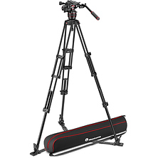 608 Nitrotech Fluid Video Head and Aluminum Twin Leg Tripod with Ground Spreader Image 0