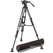 612 Nitrotech Fluid Video Head and Aluminum Twin Leg Tripod with Middle Spreader Image 0