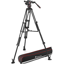 608 Nitrotech Fluid Video Head and Aluminum Twin Leg Tripod with Middle Spreader Image 0