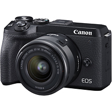 EOS M6 Mark II Mirrorless Digital Camera with 15-45mm Lens and EVF-DC2 Viewfinder (Black) Image 0