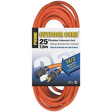 25 ft. 14/3 Heavy Duty Outdoor Extension Cord (Orange) Image 0