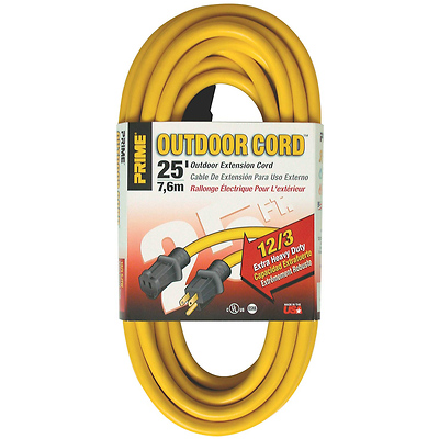 25 ft. 12/3 Extra Heavy-Duty Outdoor Extension Cord (Yellow) Image 0