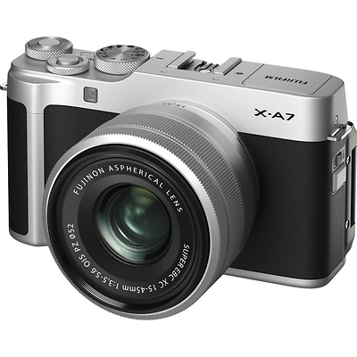 X-A7 Mirrorless Digital Camera with 15-45mm Lens (Silver) Image 0