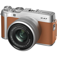 X-A7 Mirrorless Digital Camera with 15-45mm Lens (Camel) Image 0