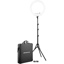 18 in. Bi-Color LED Ring Light Kit with Batteries and Stand Image 0