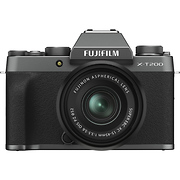 X-T200 Mirrorless Digital Camera with 15-45mm Lens (Dark Silver)