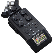 H6 All Black 6-Input / 6-Track Portable Handy Recorder with Single Mic Capsule (Black) Image 0