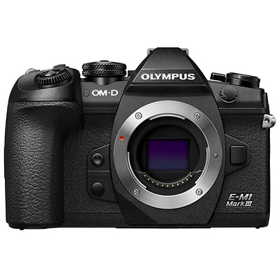 OM-D E-M1 Mark III Mirrorless Micro Four Thirds Digital Camera Body (Black) Image 0