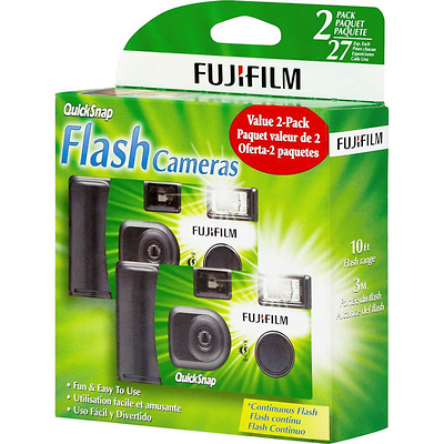 Quicksnap Flash 400 Single-Use Camera with Flash (2 Pack) Image 0