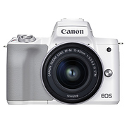 EOS M50 Mark II Mirrorless Digital Camera with 15-45mm Lens (White)