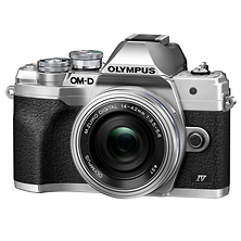 OM-D E-M10 Mark IV Mirrorless Micro Four Thirds Digital Camera with 14-42mm Lens (Silver) Image 0