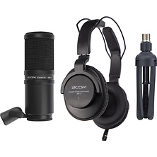 ZDM-1 Podcast Mic Pack with Headphones, Windscreen, XLR, and Tabletop Stand Image 0