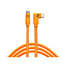 TetherPro USB-C to USB-C Right Angle Cable (15 ft., Orange)