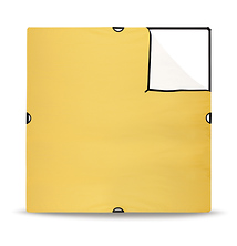 72 x 72in. Large Scrim Jim Gold / White Reflector (Fabric Only) Image 0