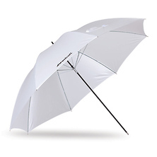 45in. Optical White Satin Umbrella Image 0