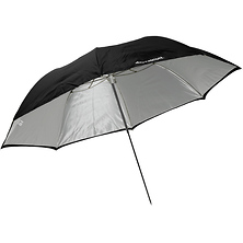 43 In. Collapsible Optical White Satin Umbrella with Removable Black Cover Image 0