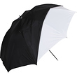 32in. White Satin Umbrella With Removable Black Cover