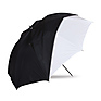 45 In. Optical White Satin with Removable Black Cover Umbrella