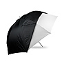60in. Optical White Satin with Removable Black Cover Umbrella
