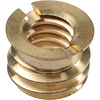 BS-100 3/8 inch -16 to 1/4 inch -20 Brass Reducer Bushing
