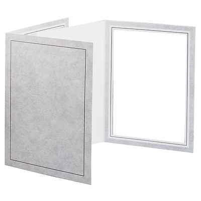 5 x 7 Picture Folder Frame - Gray (10 Pack) Image 0