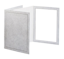 5 x 7 Picture Folder Frame - Gray (10 Pack)