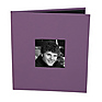 CD Holder with 2x2 Front Cover Photo Window, Purple Thumbnail 0