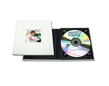 Tap Packaging Solutions CD Holder with 2x2 Front Cover Photo Window, Matte White