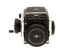 Bronica S2 Medium Format Camera and 75mm Nikkor P Lens with a 120 Film Back (Used)