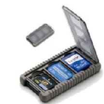 Gepe Card Safe Mini, Onyx, for Three Mini Memory Cards