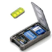 Gepe Card Safe Mini, Neon, for Three Mini Memory Cards