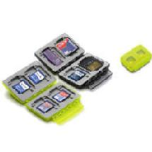 Gepe Card Safe Extreme, Neon, for four larger memory cards