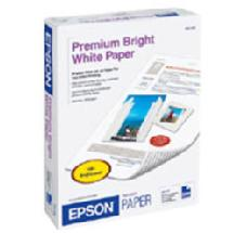 Epson Premium Bright White Ink Jet Paper, 8.5