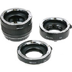 Auto Extension Tube Set DG - 12, 20 & 36mm Tubes for Canon Digital and Film Cameras Image 0