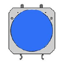 Lowel Blue Dichroic Filter for DP Light System-Fits Barndoor Frame