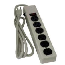 Mole Richardson E301 Power Strip, 6 Outlet with Breaker