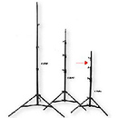 Medium Duty Maxi Aluminum Kit Stand - Black, 9' 6