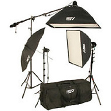 K-75 2200 watt Continous Quartz Light Softbox Kit Image 0