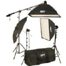 Smith Victor K-75 2200 watt Continous Quartz Light Softbox Kit