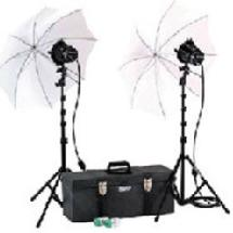 Smith Victor K-42U Two Light 765-UM Light Kit with Umbrellas