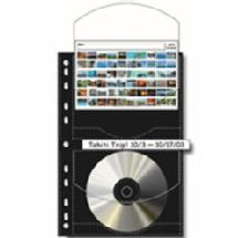 Print File CD / DVD Archival Storage Page Holds Two Discs per Side, Discs or 4 x 6
