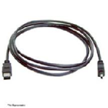 QVS 6ft. Firewire IEEE 1394 4Pin to 6Pin Black Cable