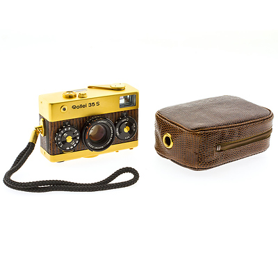 Limited Edition Rollei 35 S Gold with Sonnar 2.8/40mm - Used Image 0