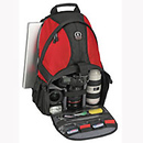 5549 Adventure 9 Photo / Computer Backpack, Red and Black